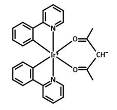 chemical structure of ir(ppy)2(acac)