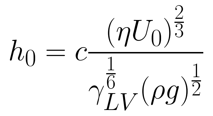 Landau-Levich Equation