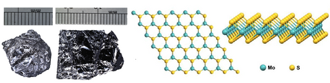 Molybdenum Disulfide Crystal structure and product image