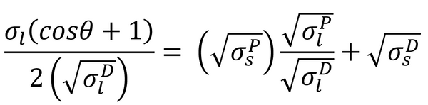 The equation for the Owens-Wendt-Rabel & Kaelble model