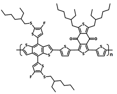 Chemical structure of PBDB-T-SF (PCE13)