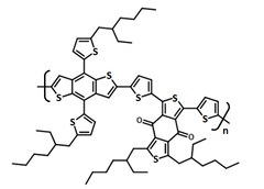 chemical structure of PCE12, PBDB-T