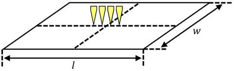 Four point probe positioning