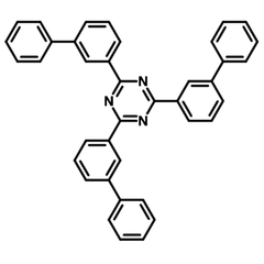 chemical structure T2t, 2,4,6-tris(biphenyl-3-yl)-1,3, 5-triazine