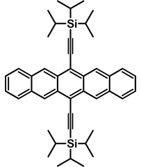 TIPS Pentacene structure