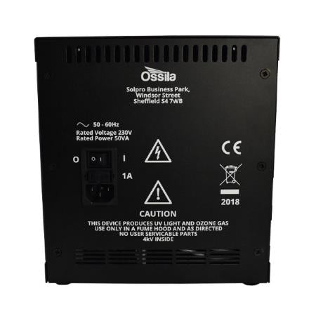 UV Ozone Cleaner Rear Panel