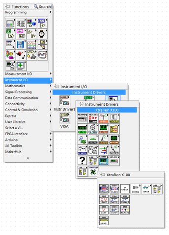 Xtralien X100 LabVIEW Drivers