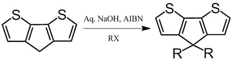 synthesis of 4,4'-alkyl-cyclopenta[2,1-b:3,4-b′]dithiophene