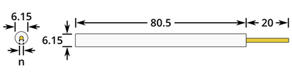 Gold Working Electrode Dimensions