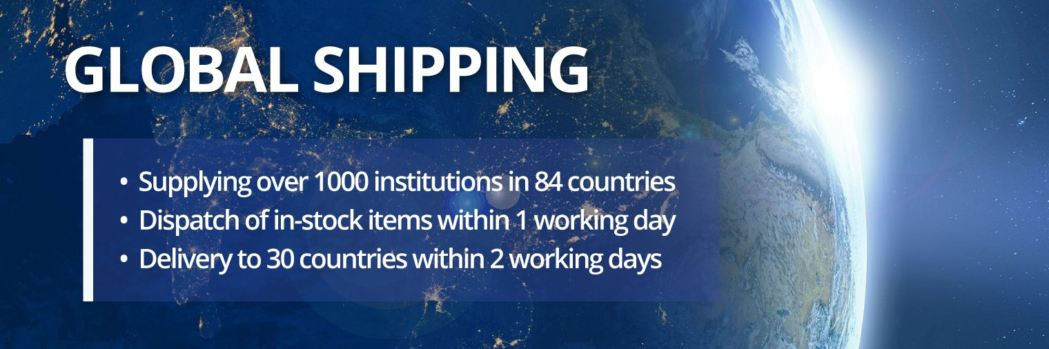 Ossila ships worldwide offering free shipping on qualifying orders through our online checkout