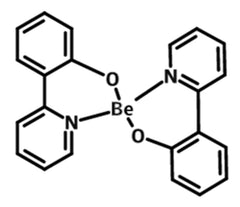 chemical structure of Bis[2-(2-hydroxyphenyl)pyridinato]beryllium, bepp2