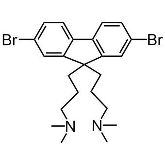 chemical structure of dibromo-fluorene-diyl-bisdimethylpropan-amine cas number 673474-73-2