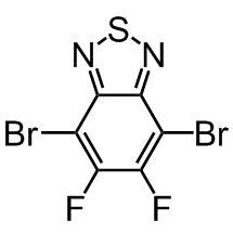 chemical structure dibromodifluorobenzothiadiazole, pce11 monomer, difluorodibromobenzothiadiazole, cas number1295502-53-2