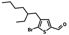 5-bromo-4-(2-ethylhexyl)-2-thiophenecarboxaldehyde chemical structure