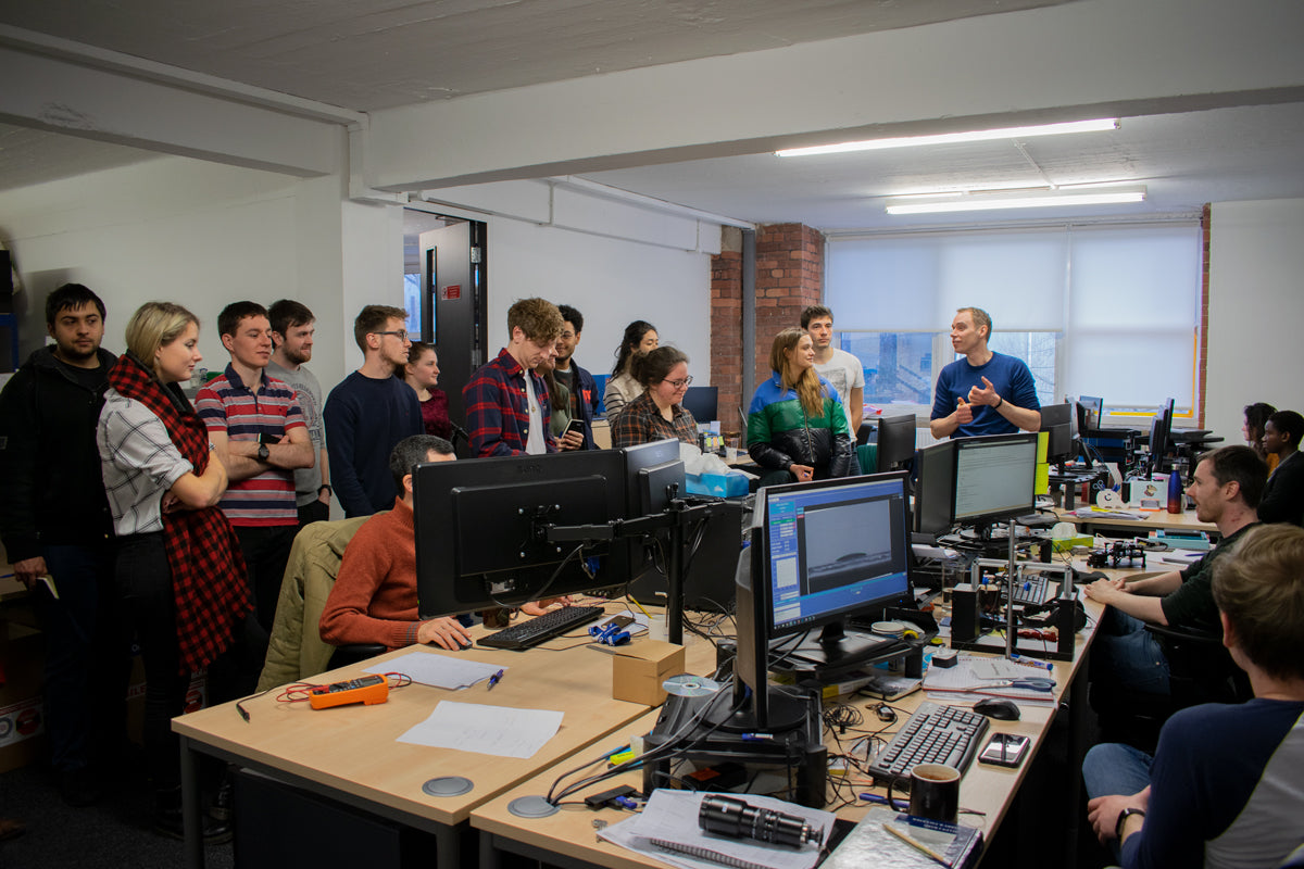 PhD students from the EPSRC CDT-PV visiting Ossila for a business training workshop