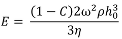 Equation for transition point between fluid thinning to evaporative thinning