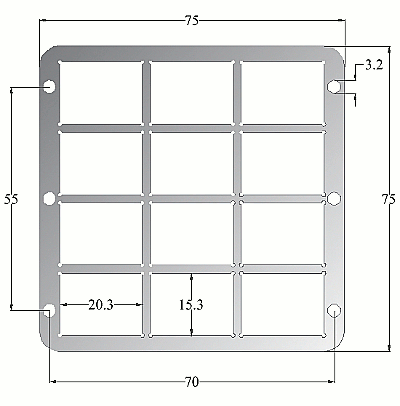 Evaporation stack substrate support schematic