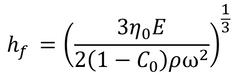 Equation for final dry film thickness from