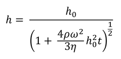 Final fluid film thickness equation by Emslie, Bonner, & Peck