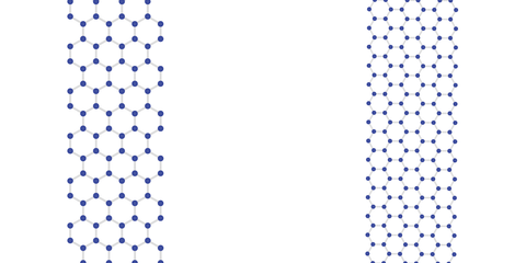 Armchair (L) and zigzag (R) graphene nanoribbons