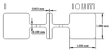 Linear variable channel length OTFT evaporation mask (dimensions)