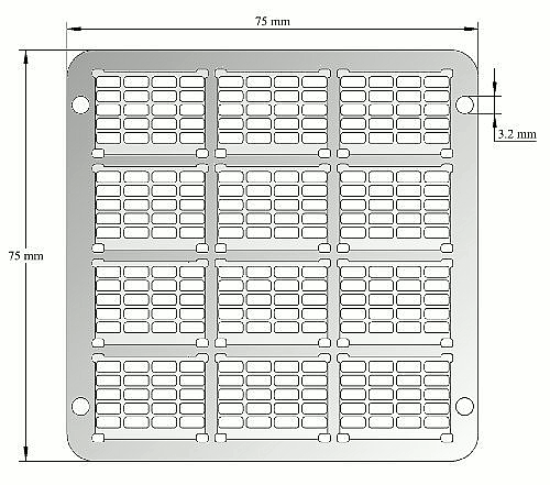 High density substrate holder
