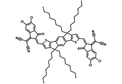 Chemical structure of IDIC-4Cl