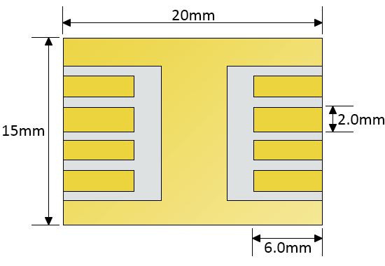 ITO photovoltaic substrate (8 pixel) schematic