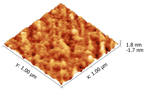 AFM of glass surface of ITO substrates