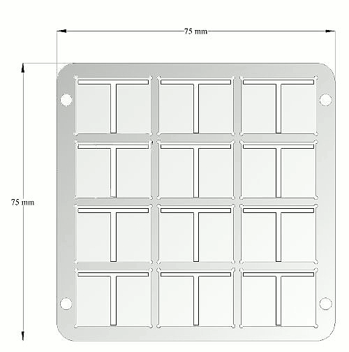 Low density OFET gate mask (technical drawing)