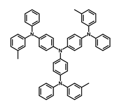 4,4′,4′′-Tris[phenyl(m-tolyl)amino]triphenylamine (m-mtdata) Chemical Structure