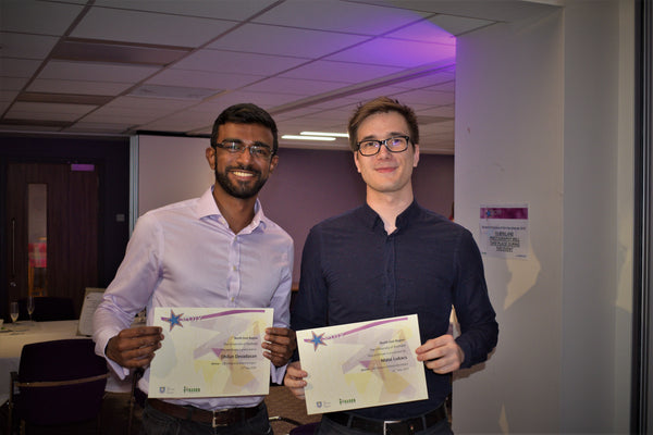 Dhilan & Máté, Student Employee of the Year 2018 winners from Ossila
