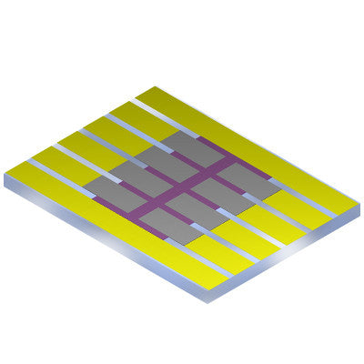 Photovoltaic Substrate (8 Pixel) Overview and Schematic
