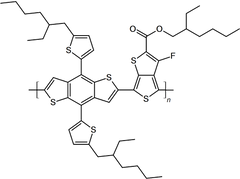 PCE10 (PBDTTT-EFT, PTB7-Th) chemical structure