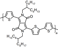 chemical structure of PDPP3T