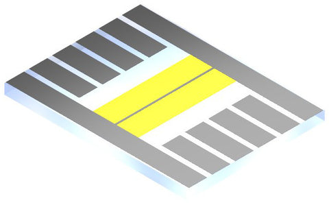Photovoltaic substrate with bus bar (optional)
