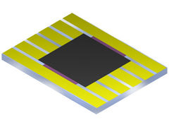 Photovoltaic substrate with one large pixel