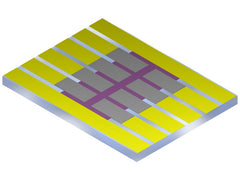 Photovoltaic substrate with eight small pixels