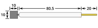 Platinum Plate Working Electrode Dimensions