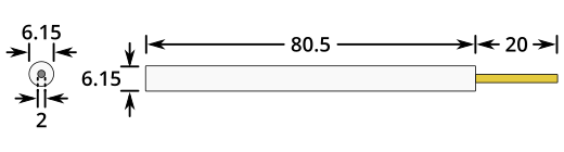 Platinum Working Electrode Dimensions