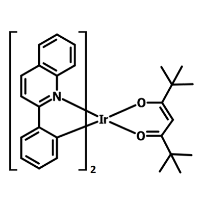 Ir(dpm)PQ2 chemical structure, 713079-03-9