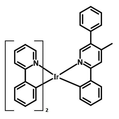 Ir(ppy)2(bpmp) chemical structure
