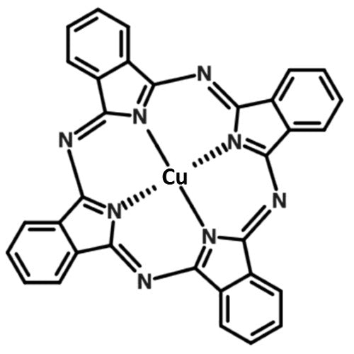 CuPc copper phthalocyanine chemical structure