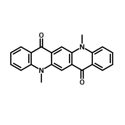 chemical structure of DMQA | N,N'-Dimethylquinacridone | 19205-19-7