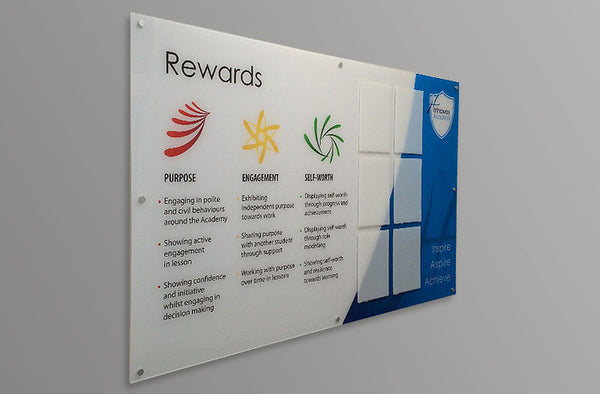 Rewards display board