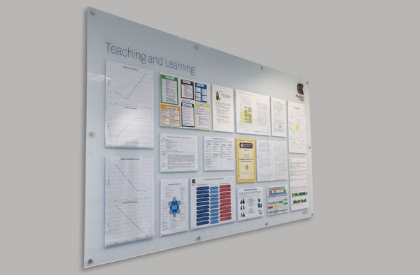 School display board - Ofsted data
