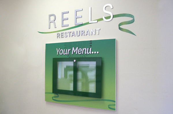Restaurant menu board - updatable