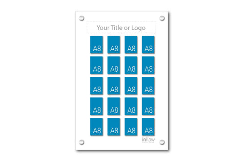 20 Pocket A8 Premium Staff Display Board