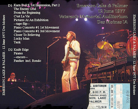 Emerson, Lake, & Palmer - Des Moines, Iowa - June 12, 1977