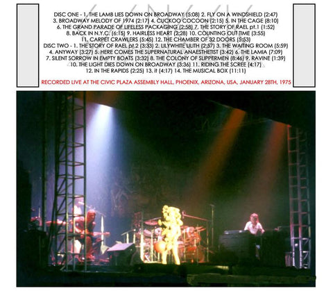 Genesis - The Lamb Live In Phoenix, AZ, January 28, 1975